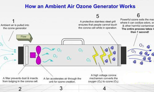 Effective concentration and conditions for ozone disinfection